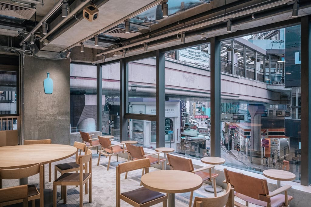Blue Bottle Coffee Hong Kong Central Cafe by Schemata Architects