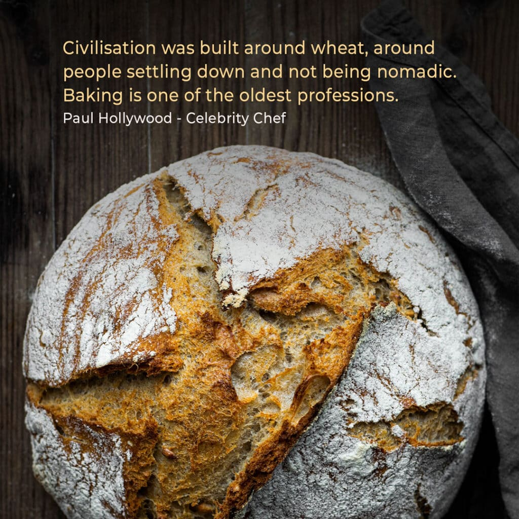 Bakery quote by celebrity chef Paul Hollywood