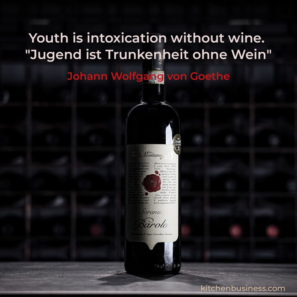 Wine quote by Goethe