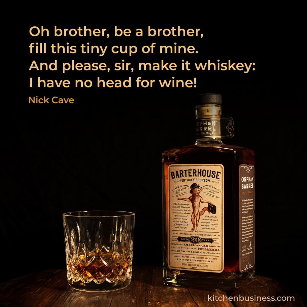 Bar quote by Nick Cave