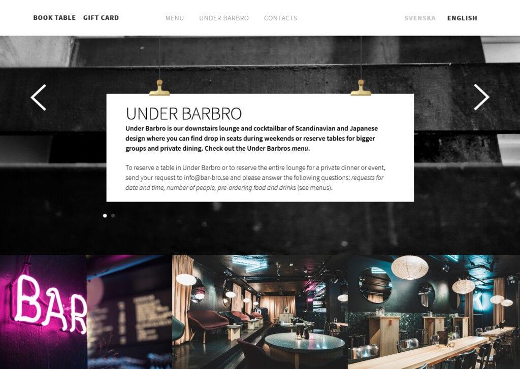 Website image of Bistro Barbro