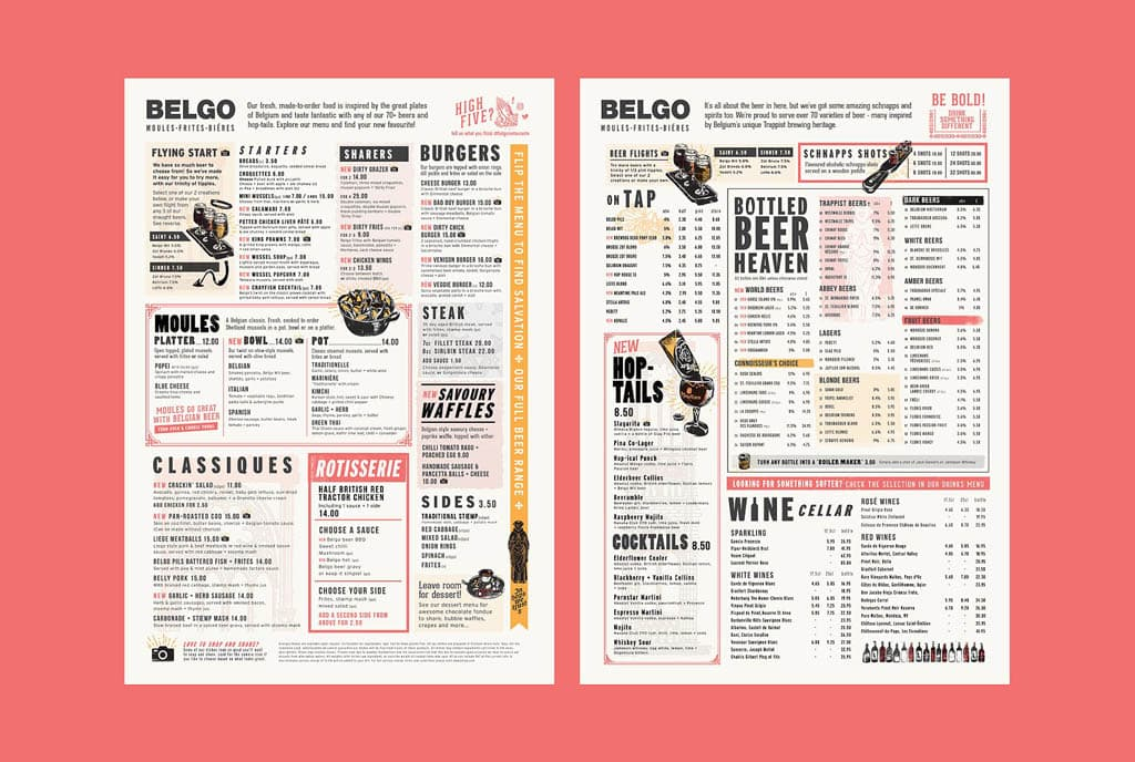 Belgo Bar & Restaurant Menu by Eat With Your Eyes