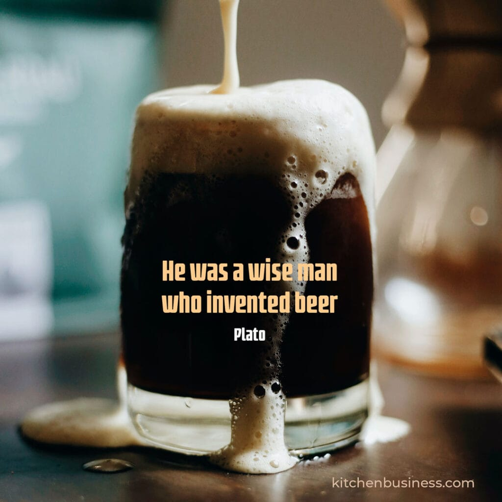 Beer and brewery quote by Plato