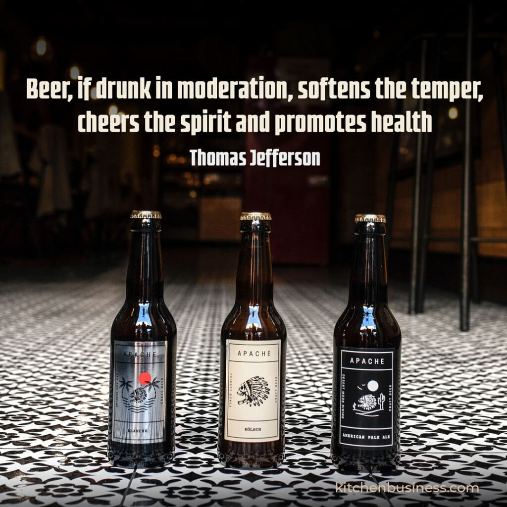 Beer and brewery quote by Thomas Jefferson