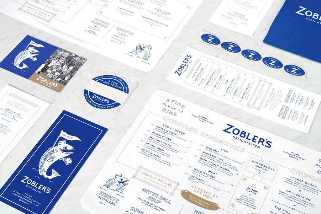 Zobler's Delicatessen Menu Design by Club