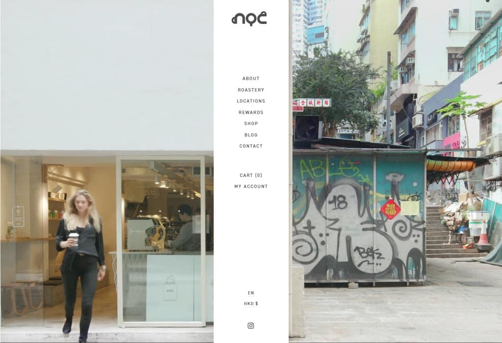 Website of Cafe, Roaster and Online Store - NOC COFFEE CO.