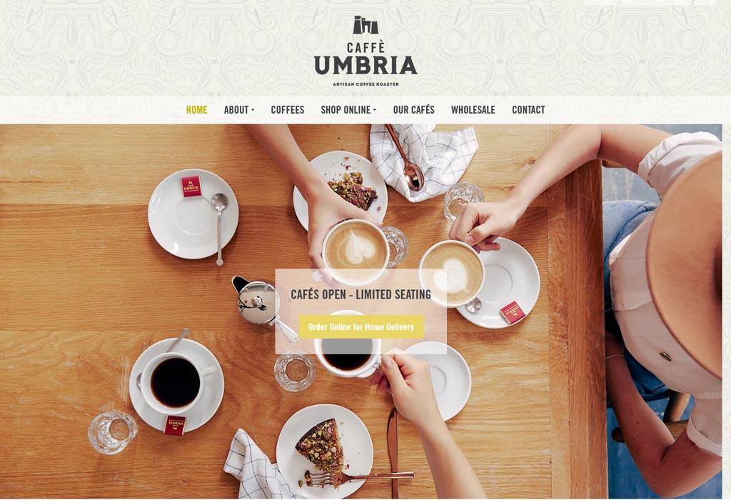 Website of Caffé Umbria