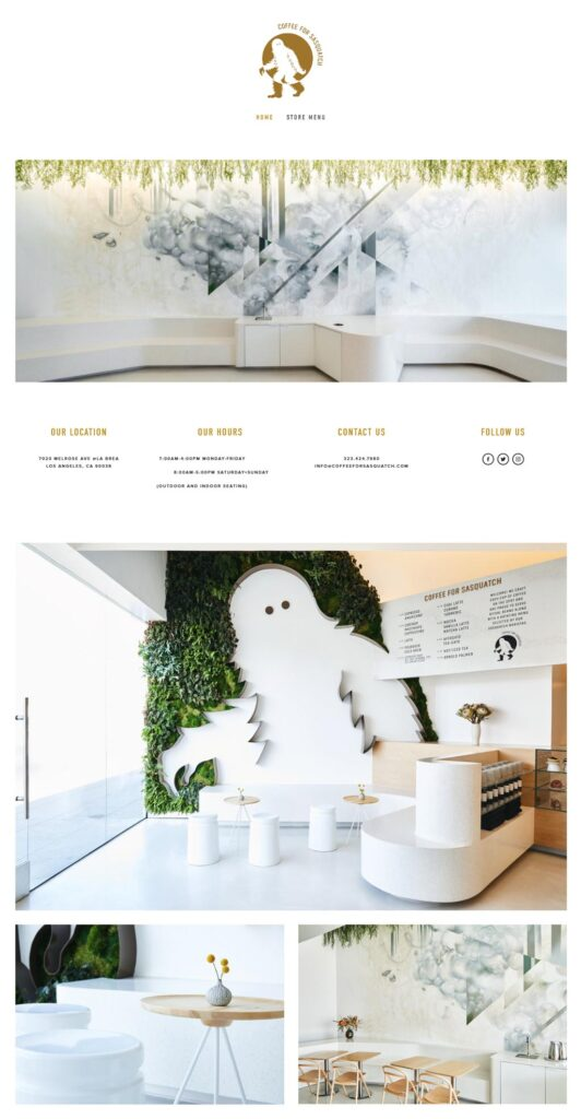 Website image of Coffee For Sasquatch
