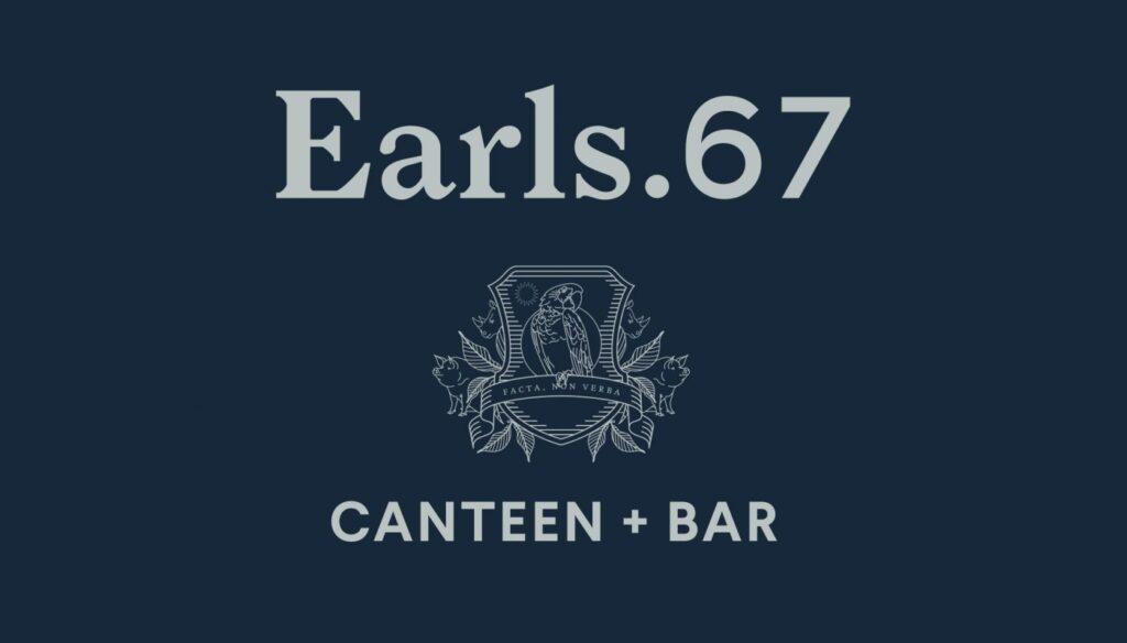 Earls. 67 canteen & bar - Logo Design by Glasfurd Walker