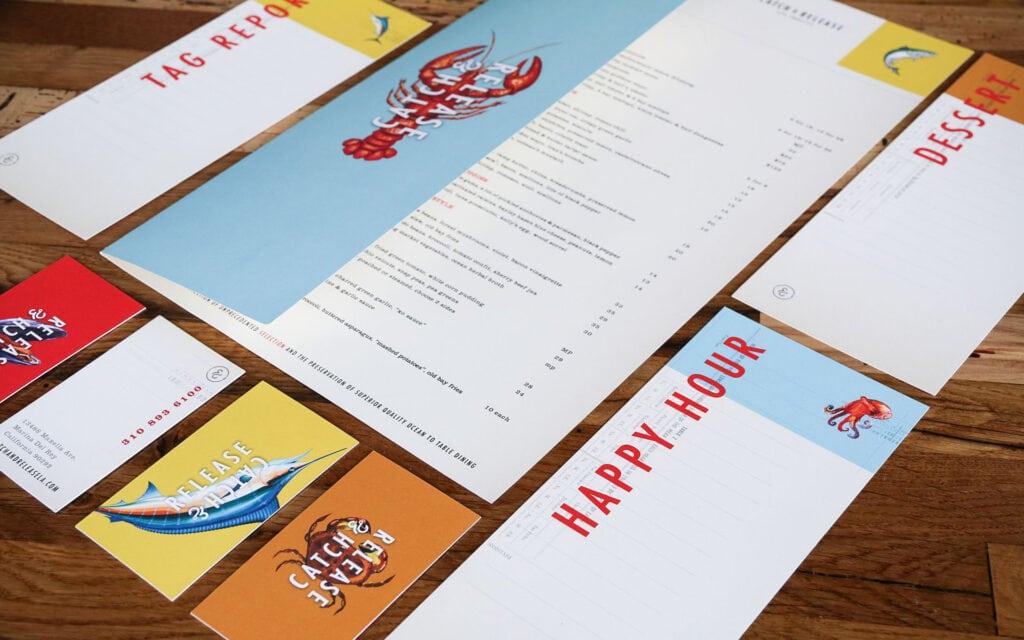 Catch & Release Seafood Restaurant Menu by Farm Design