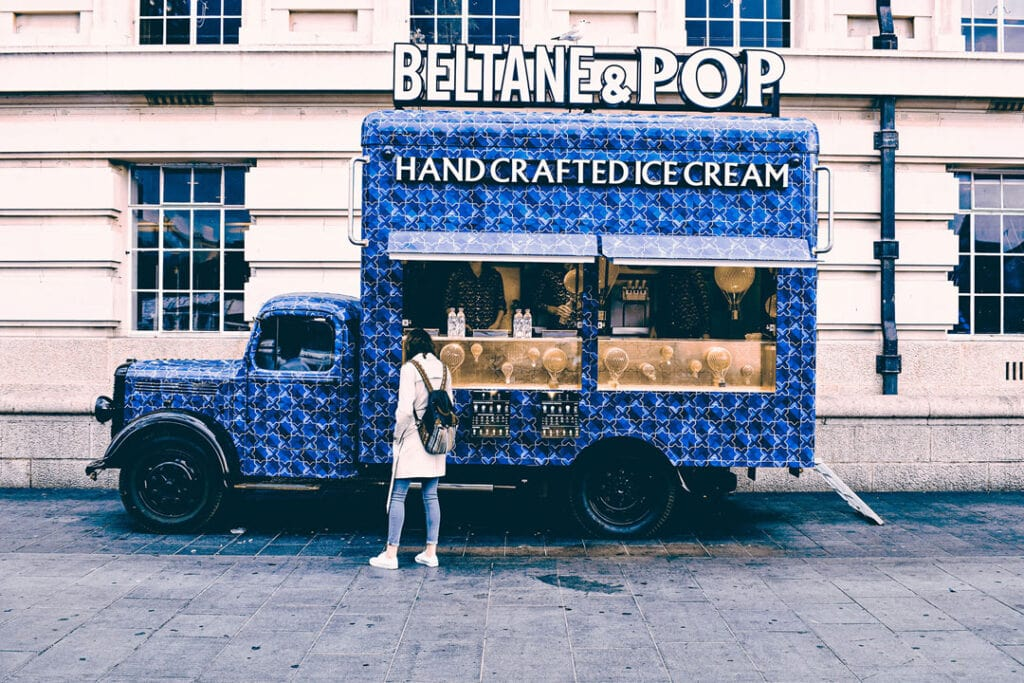 Food truck ice cream handcrafted