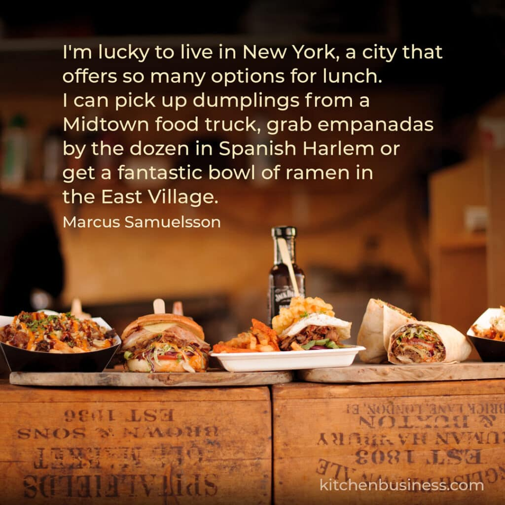 Food truck quote by Marcus Samuelsson