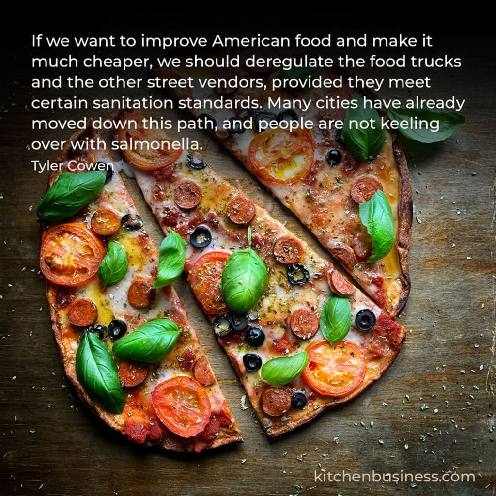 Food truck quote by Tyler Cowen