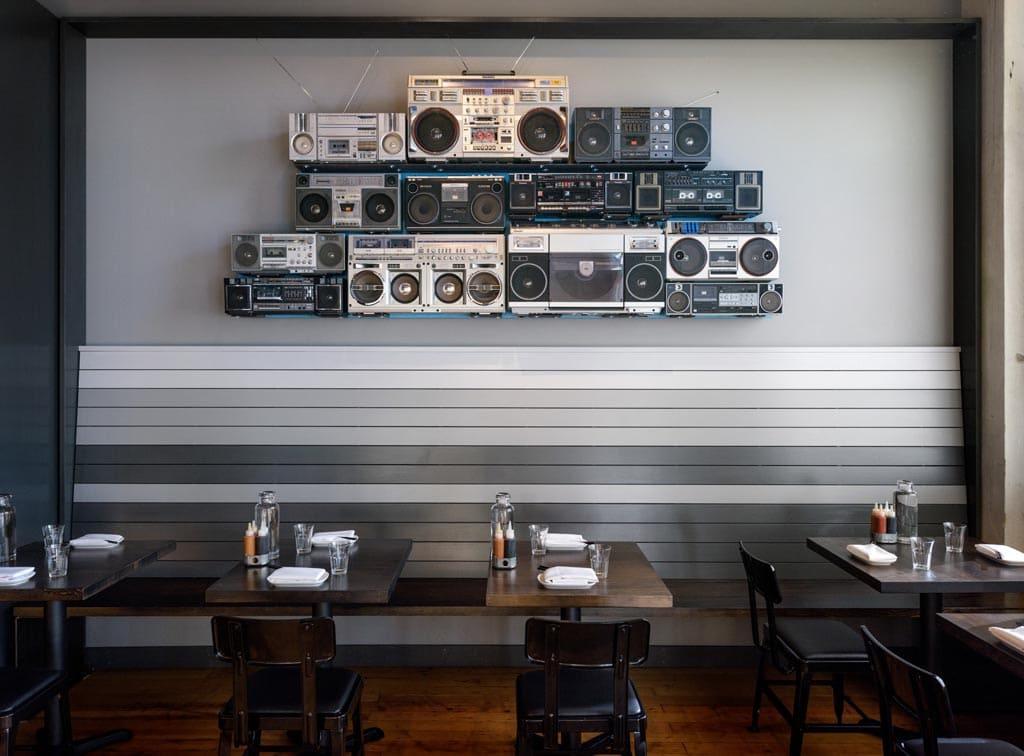 Interior design Revelry Bar by Heliotrope Architects