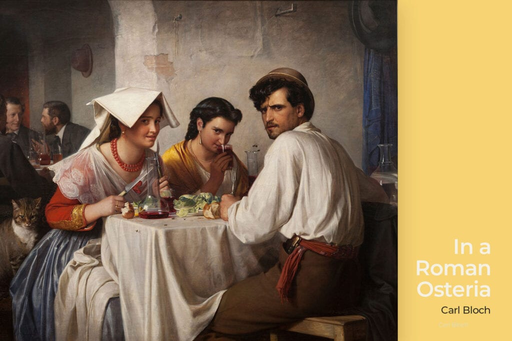 In a Roman Osteria by Carl Bloch