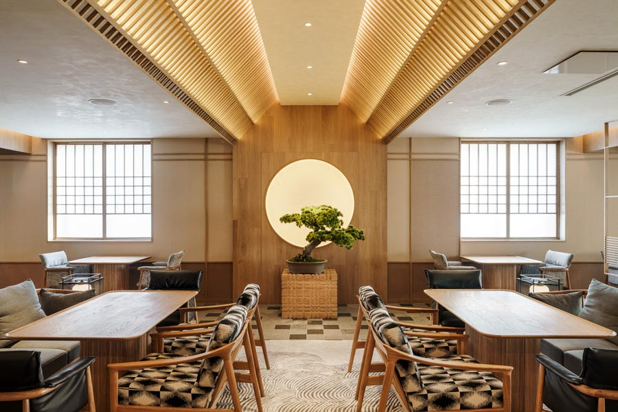 Restaurant interior design - Japanese Lounge at Base Anfu by Red Design