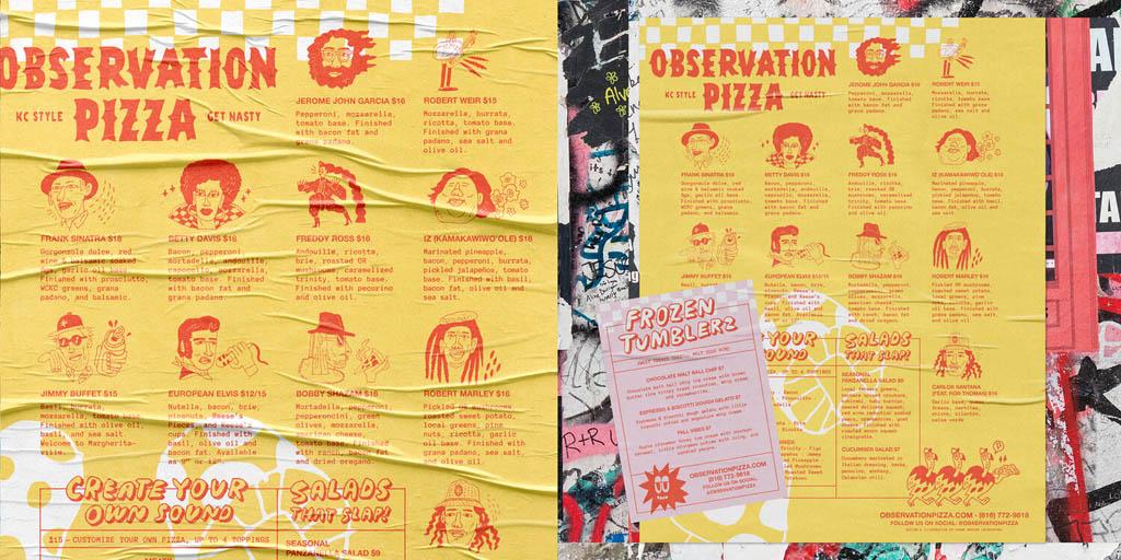 Observation Pizza Menu Design by Frank Norton