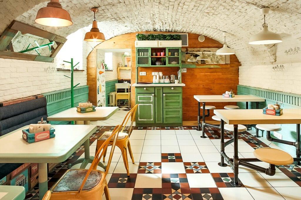 Salat Bar interior design by Aesthetique Russia
