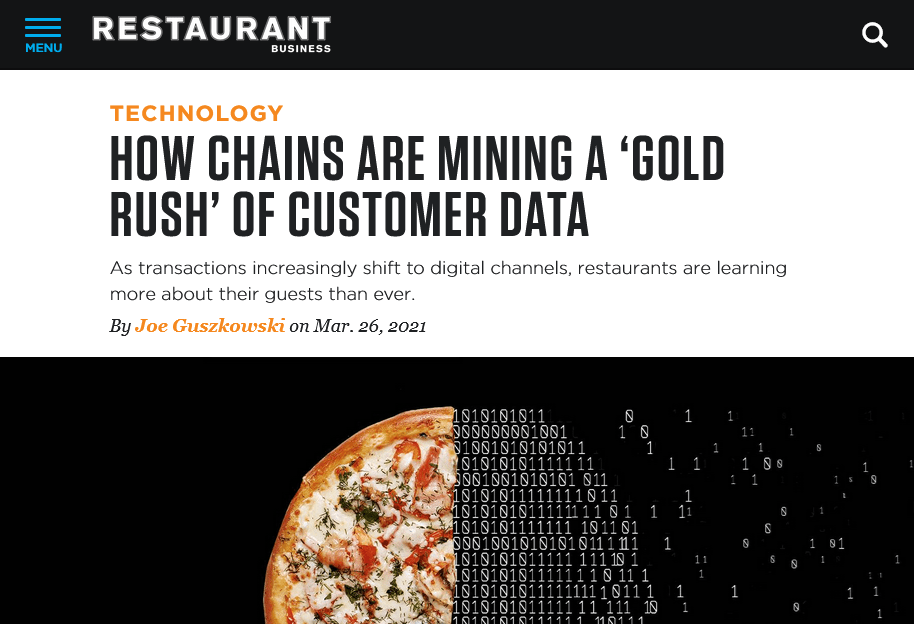 Screenshot How chains are mining a 'gold rush' of customer data