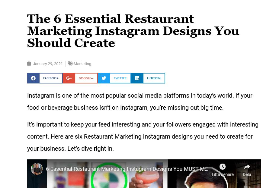 Screenshot The 6 Essential Restaurant Marketing Instagram Designs You Should Create - Wilson K Lee