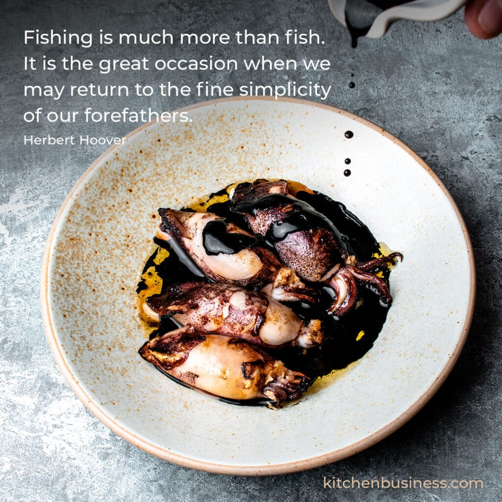 Seafood quote by Herbert Hoover