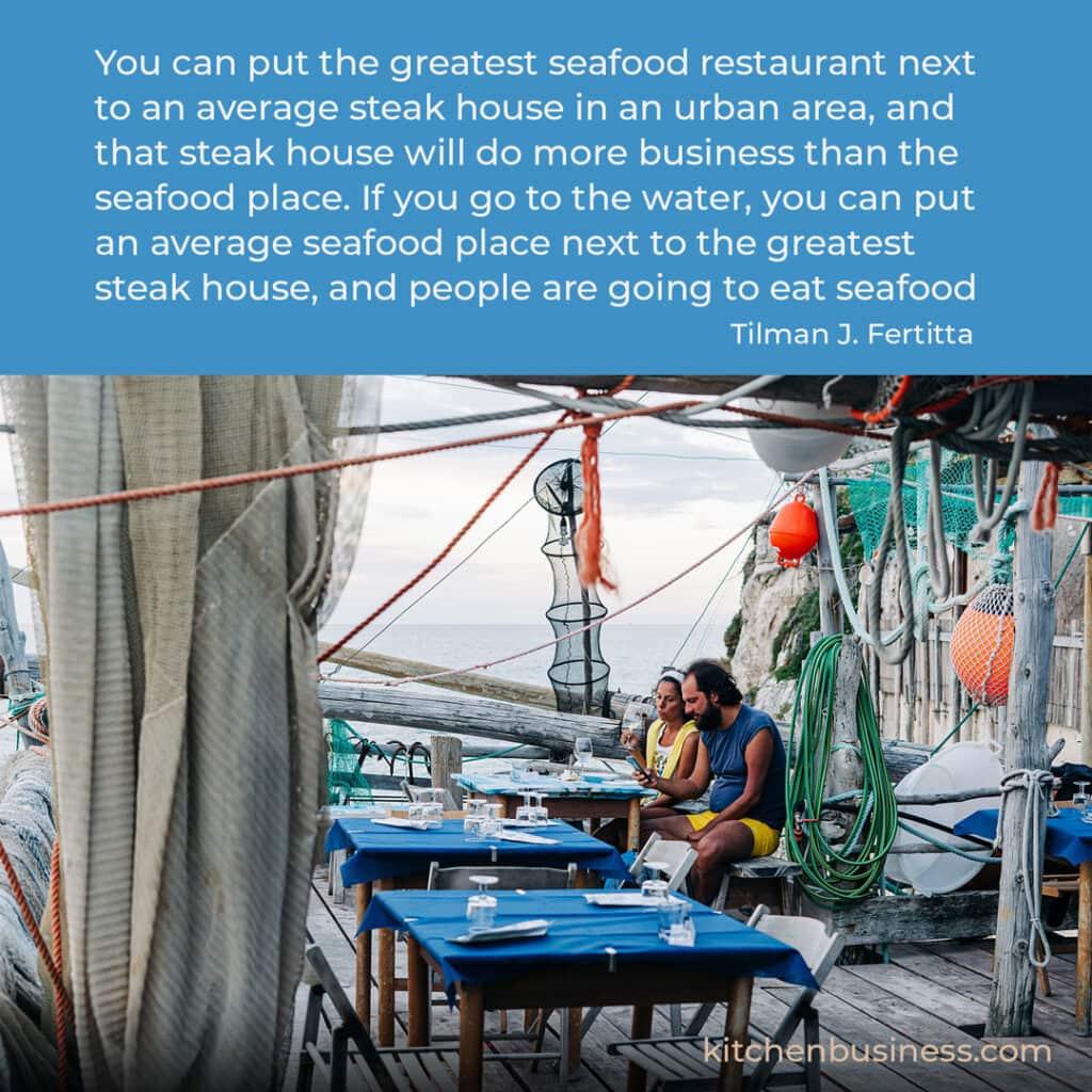 Seafood quote by Tilman J. Fertitta