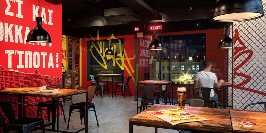 Interior design - restaurant Souva by Brandon Archibald