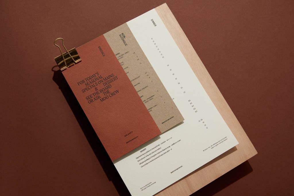 Moo's Coffee Shop - Menu Design by Studio Sly