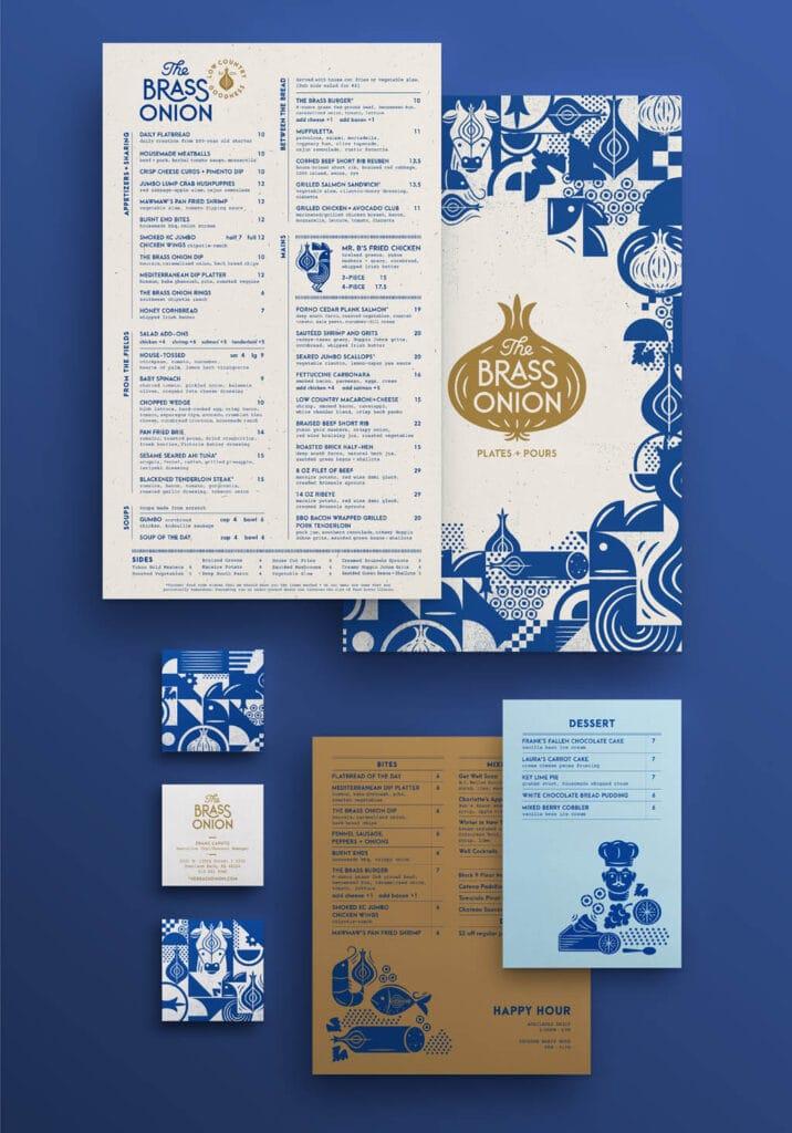 The Brass Onion – Menu Design by Carpenter Collective