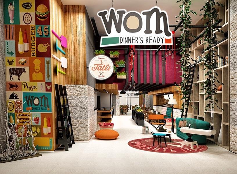 Wom Cafe Restaurant by Kraf&Co Design Studio