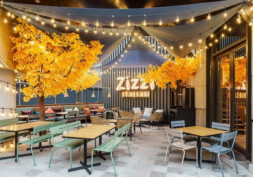 Zizzi Italian restaurant by Red Design