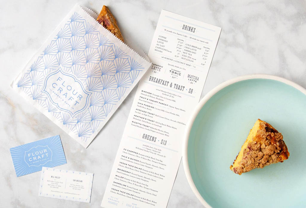 Flour Craft Bakery & Café - Menu Design by Bootjack Design