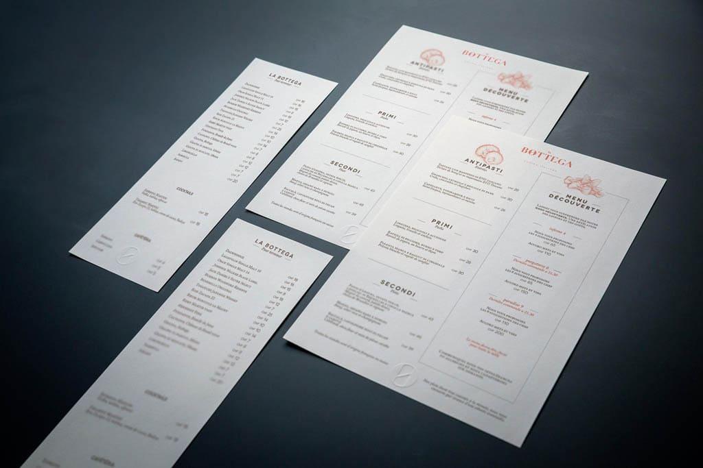 La Bottega - Restaurant Menu Design by Kid Studio