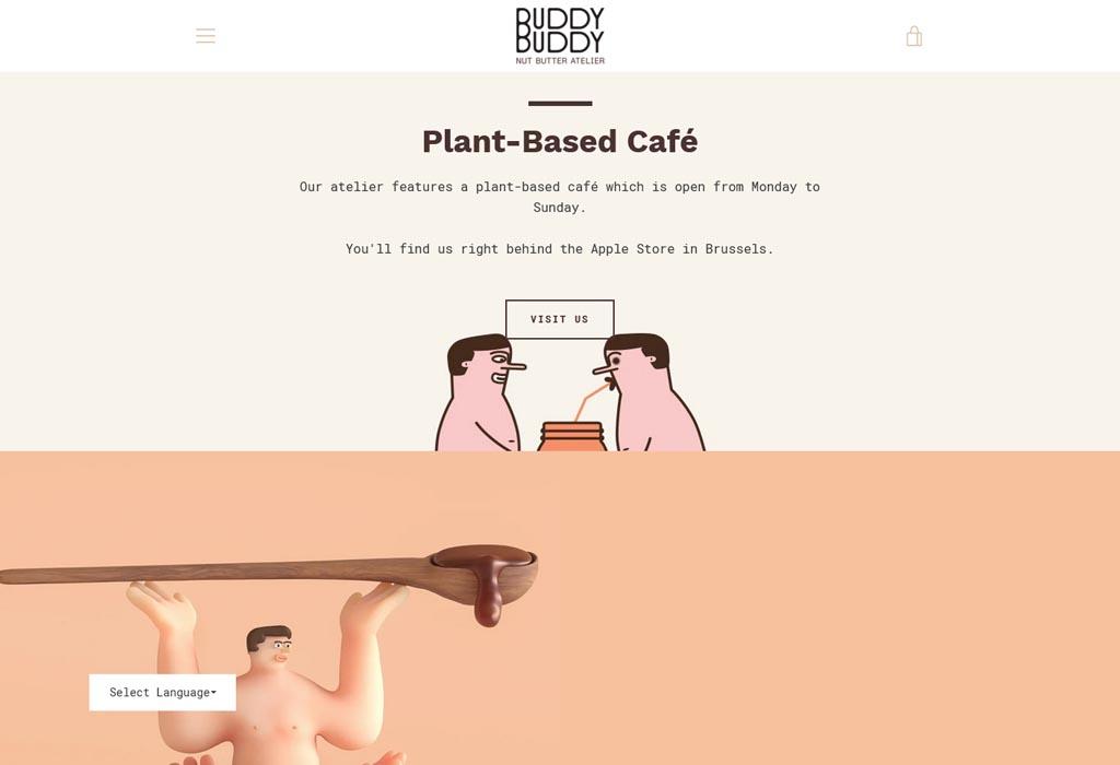 Website image of Buddy Buddy Cafe