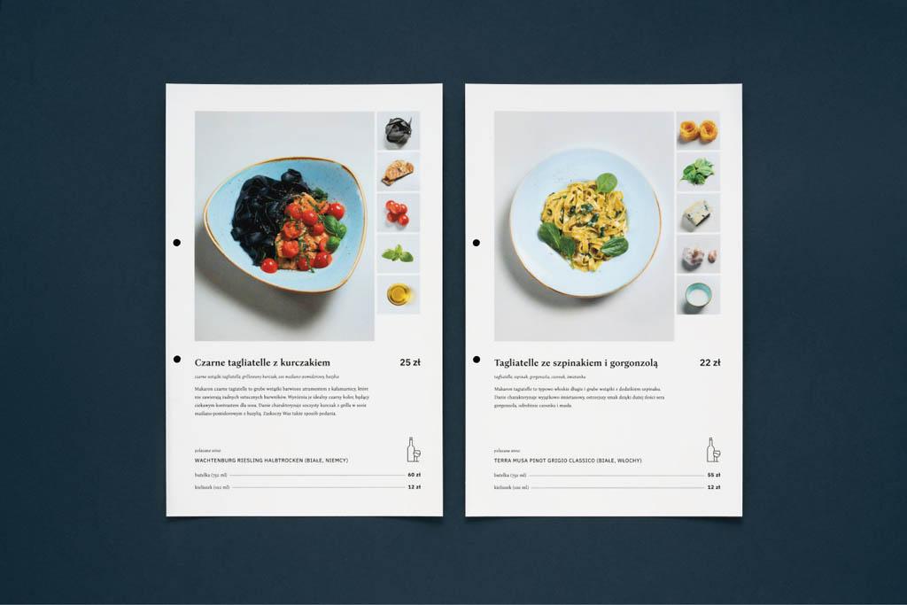 Okopova Cafe & Restaurant Menu Design by Motyw Studio