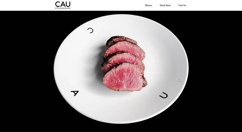 Cau is a restaurant in Amsterdam. Restaurant Website Design