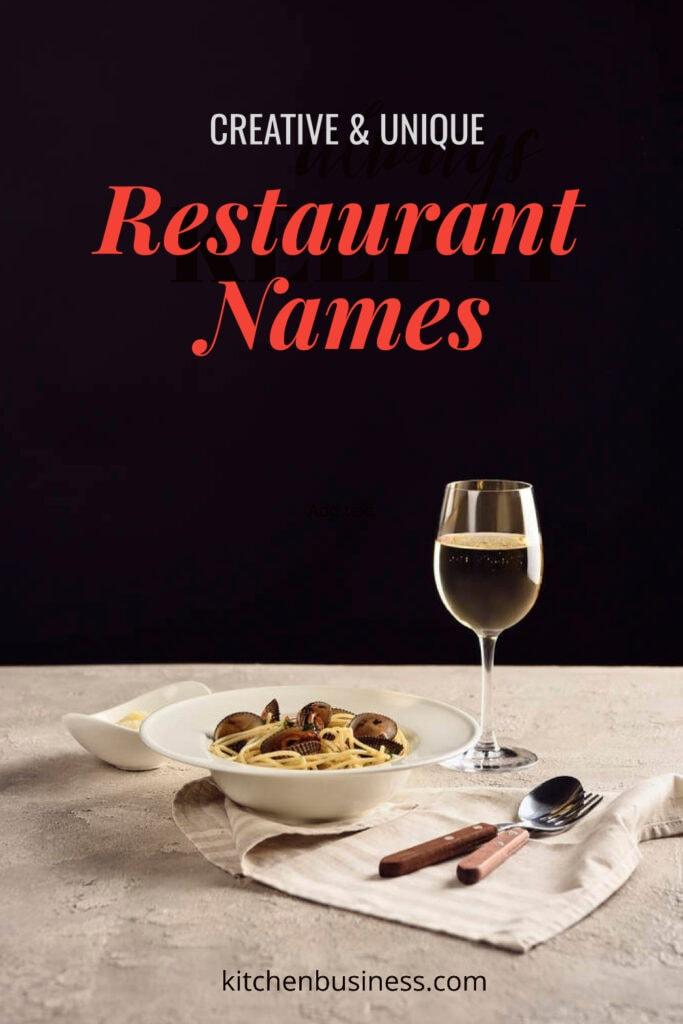 Creative & unique restaurant names