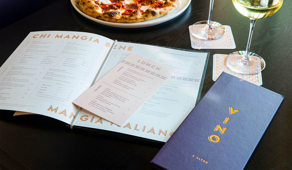 Zanti Restaurant Menu Design by Principle