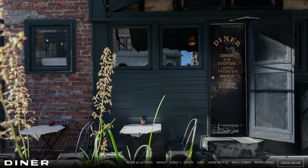 Diner Restaurant Website Design