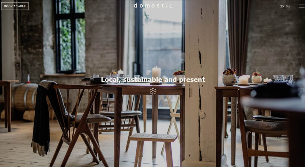 Domestic This Danish restaurant has a one-star rating in the Michelin Guide. Restaurant Website Design