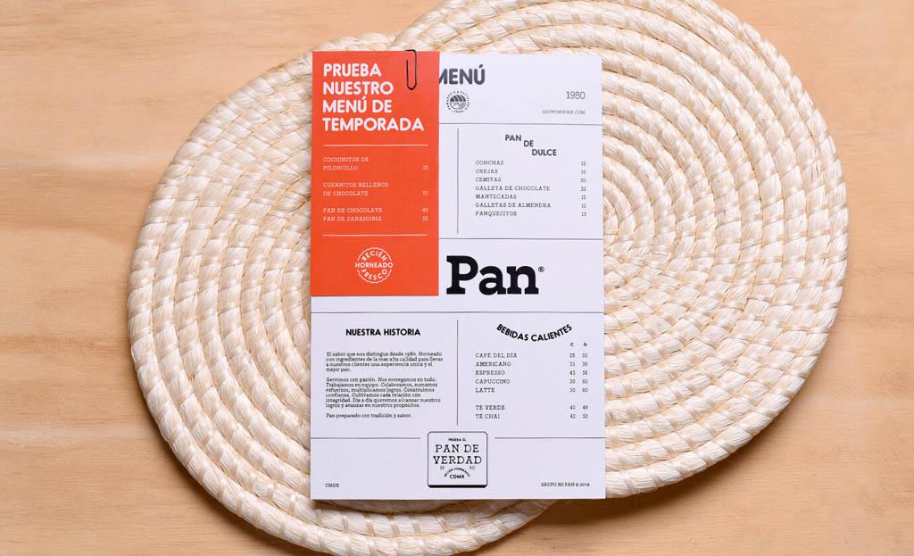 Pan De Verdad Bakery Menu Design by Firmalt Agency