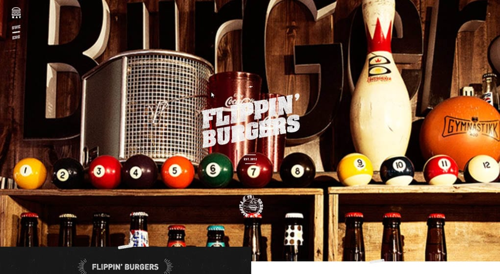 Flippin' Burgers Restaurant Website Design