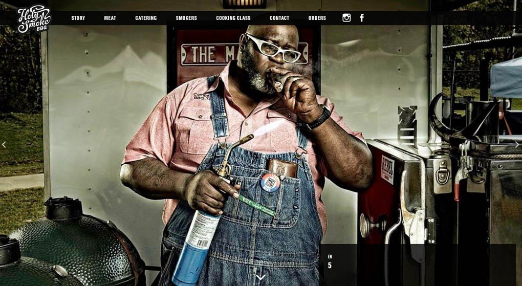 Holy Smoke BBQ Restaurant Website Design