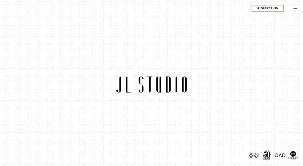 Website of JL Studio, a Michelin-starred restaurant in Singapore. Restaurant Website Design