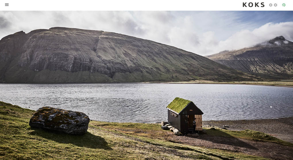 Koks is a restaurant on the Faroe Islands with two Michelin Guide stars. Restaurant Website Design