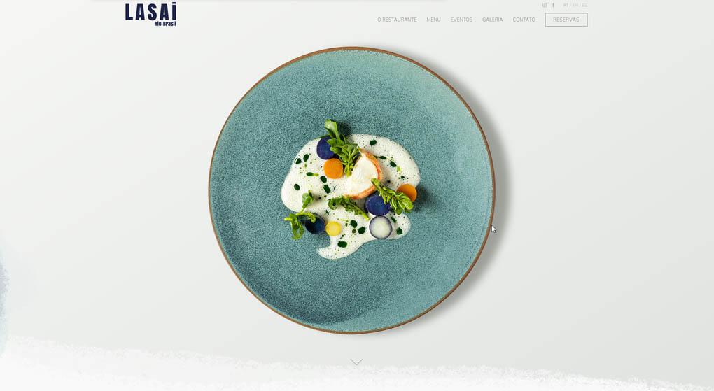 Lasai is a one-star Michelin restaurant in Rio de Janeiro. Restaurant Website Design