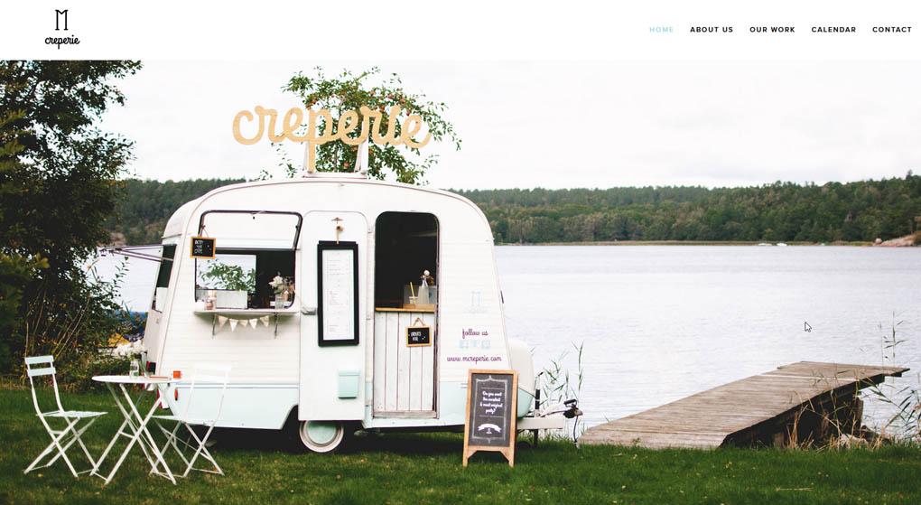 M Creperie food truck Restaurant Website Design