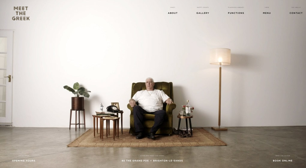 Meet the Greek Restaurant Website Design