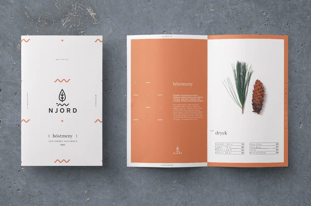 Njord Organic Restaurant -Menu by Nicklas Hellborg