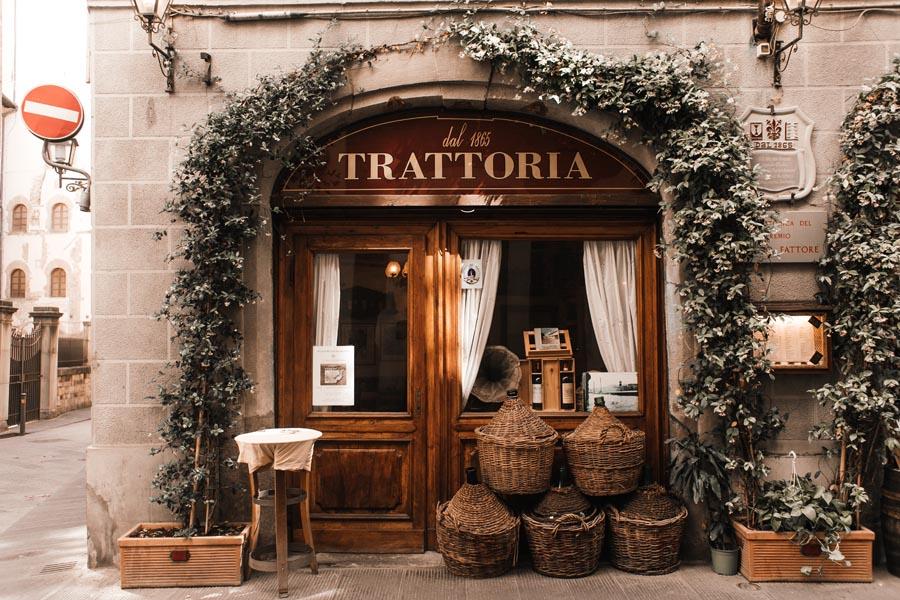 Italian restaurant trattoria